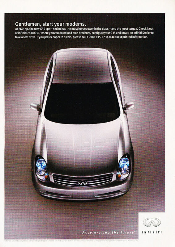 2003 Infiniti G35 Sedan - Classic Vintage Advertisement Ad H21