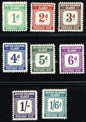 SOLOMON ISLANDS 1940 SG D1-D8 SC J1-J8 VF OG MLH * COMPLETE SET 18 STAMP