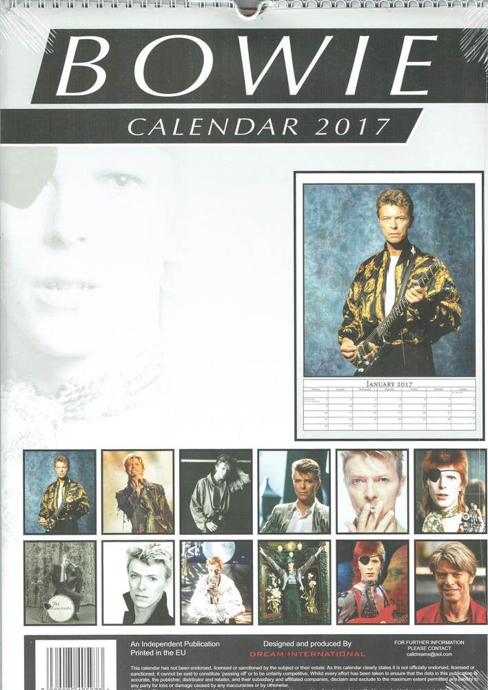 David Bowie Kalender 2017 Neu • EUR 13,99 - PicClick DE