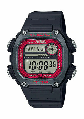 Casio DW291H-1BV, 10 Year Battery Watch, World TIme,Alarm,Day/Date, 200 Meter WR