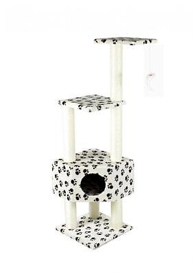 "52"" CAT TREE CONDO FURNITURE SCRATCHPOST PET HOUSE 67-Paw"