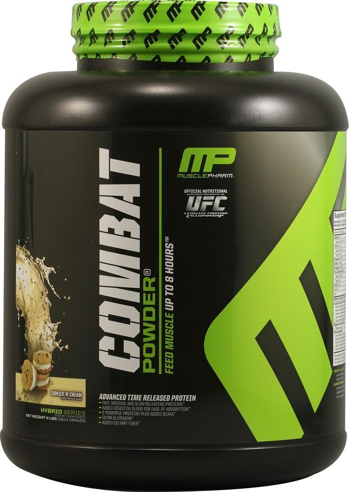 Combat Protein Muscle Pharm Powder Cookies and Cream 5 Pound