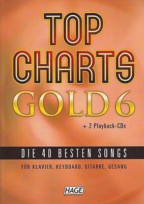 HAGE Top Charts Gold 6 (mit 2 CDs), die 40 besten Songs, EH 3893