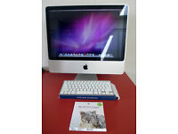 """Apple 20"""" Imac intel core 2 duo 2.66ghz with Mac OS X Snow Leopard and wireless keyboard"""