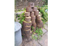 timber logs wood slices - see photos
