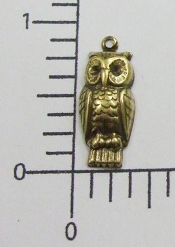 35753          4 Pc - Brass Oxidized Small Owl Jewelry Finding Charm