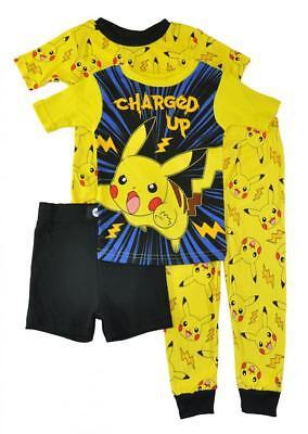 Pokemon Little/Big Boys 4pc Snug Fit Pajama Set Size 4 6 8 10 $44](Little Boys Pjs)