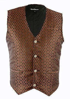 Men's Brown  Vest /Waistcoat Gothic Steampunk /Wedding Vest/Prom Vest ()