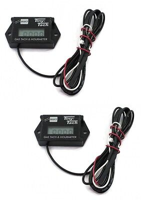 (2) Commercial TINY TACH Hour Meter / Tachometer for RC Boats, Cars & Air Planes