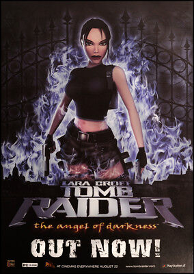 "Original Tomb Raider 'Angel of Darkness' promo poster 60"" x 40"""