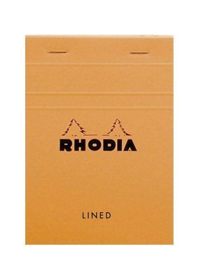Rhodia Staplebound - Notepad - Orange - Lined - 80 Sheets - 4 X 6 In - New 13600