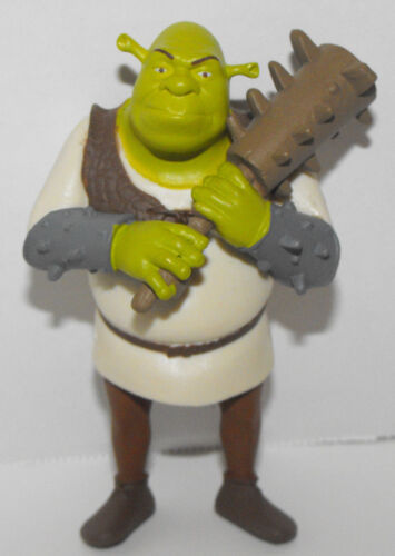 Shrek with Weapon Figurine 3.5 inches tall Plastic Miniature Figure Shrek Movie