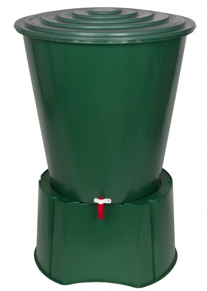 Regentonne 210 Liter mit Standfuß Wassertank Wassertonne Regenfass Wasserfass