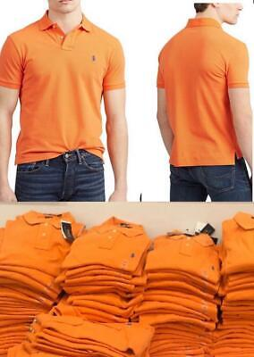 Men's Polo Ralph Lauren Classic Fit Mesh Short Sleeve Polo Shirt (Ralph Lauren Orange)