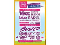 2 x Solihull Summer Music Fest Weekend Tickets 25th/26th August