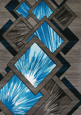 Blue Geometric Lines (United Weavers Blue Contemporary Lines Explosions Area Rug Geometric 710-00663 )