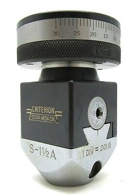 Criterion S5 1 12a Tenth Setting Boring Head New Item Old Stock