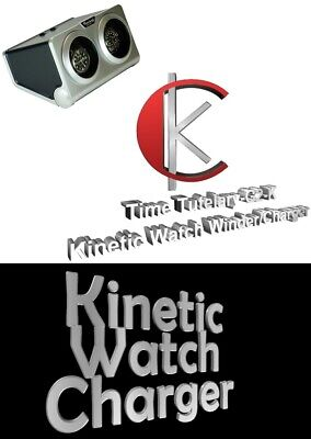 - Luxury Display Dual Automatic Kinetic Watch Winder/Charger: Time Tutelary-G2-K