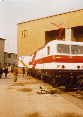 Foto ca 9x13cm Elektrolok Leipziger Messe 1982  (G2081)