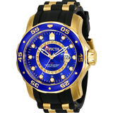 Invicta Pro Dirver 6993 Men's Round Analog Date Gold Tone Blue Watch