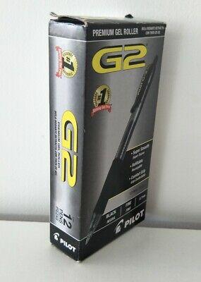 Pilot G2 Premium Gel Roller Pen Fine Point 0.7mm 12 Retractable Pens Black 31020