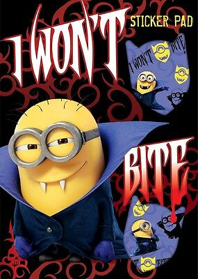ween Sticker Pad (Halloween Despicable Me)