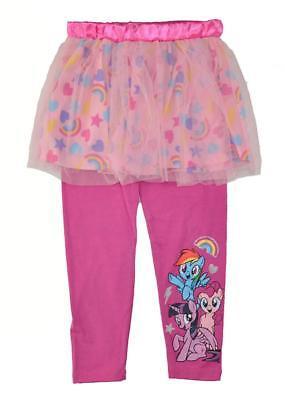 My Little Pony Girls 2pc Pink Tutu & Legging Set  Size 4 5 6 - My Little Pony Leggings