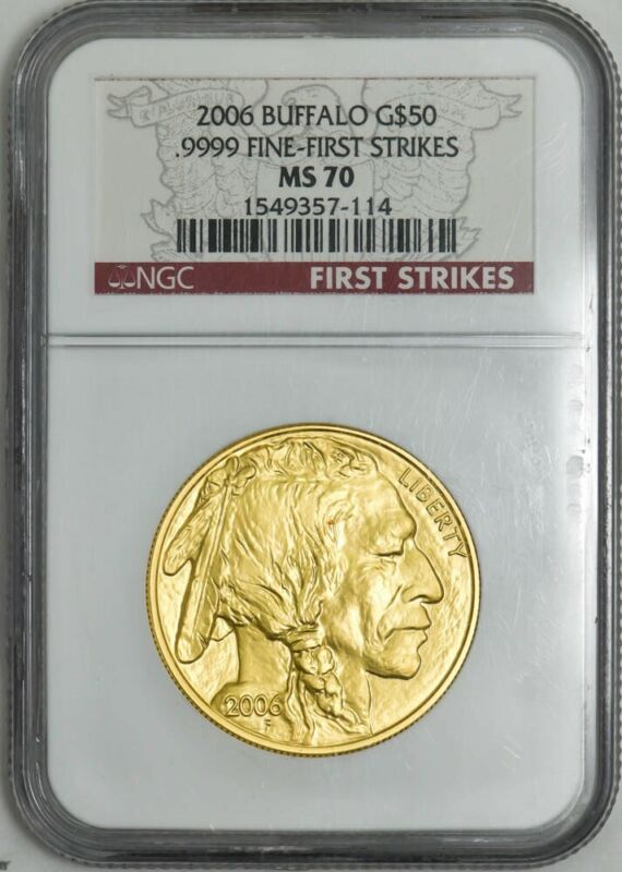 2006 $50 American Gold Buffalo First Strikes MS70 NGC 942988-10