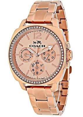 COACH - Ladies Boyfriend Multi-Function Rose Gold-Tone Watch - 14502128