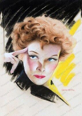8x10 Print Katharine Hepburn Screenland Magazine1930's Color #KHCS