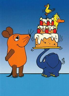 """Postkarte """"Sendung mit der Maus: Geburtstagstorte"""""""
