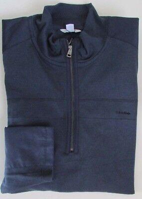 NWT Calvin Klein Sportswear 1/4 Zip Interlock Sweatshirt w/ Nylon Detail Size L ()