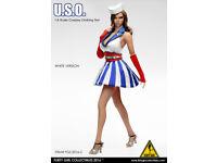 1:6 Flirty Girl/'s Action Figure Denim Fashion Clothing Set in Denim #2016-9