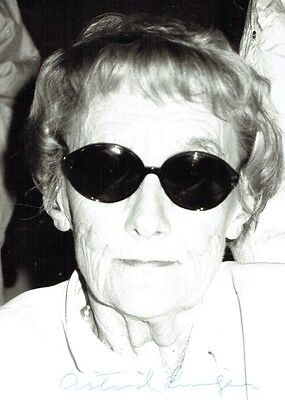 ASTRID LINDGREN  - Signed B/W photograph of well known Swedish author