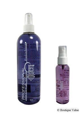 - BEST SOLUTION Jewelry Cleaner 16oz Spray Bottle with 2oz Travel Spray Bottle