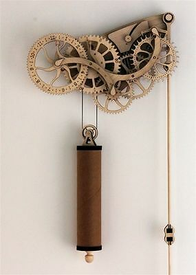 Abong Laser-Cut Mechanical Wooden Pendulum Clock - 3D Clock