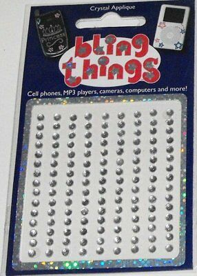 Single Clear Crystal Dots Cell Phone BLING THING iPod Sticker Decal BBS128 - Dots Ipod