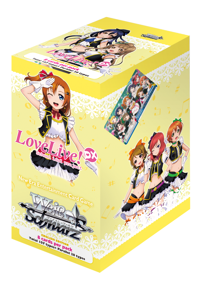 DX 20ct Booster Box New Sealed 1x English Weiss Schwarz Love Live