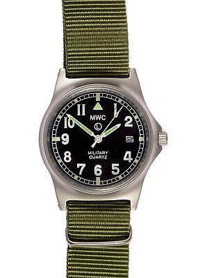 Official MWC G10LM Watch Olive Green Strap 50m Water Proof Military Quartz G1098
