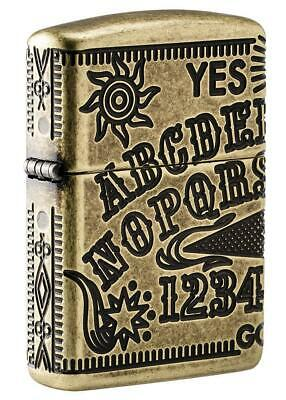 Zippo Armor Windproof Deep Carved Ouija Board Lighter 49001, New In Box