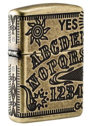 Zippo Armor Windproof Deep Carved Ouija Board Lighter 49001, New In Box