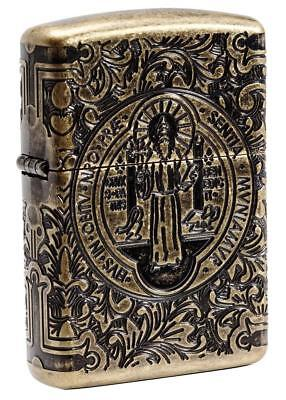 Zippo Windproof Armor St. Benedict Lighter, Constantine, 29719 New In Box
