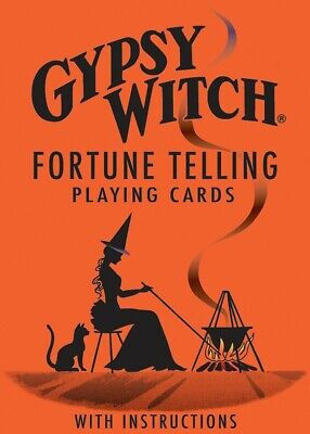 GYPSY WITCH FORTUNE TELLING PLAYING CARDS TAROT DECK Oracle Divination GAME NEW Gypsy Witch Deck