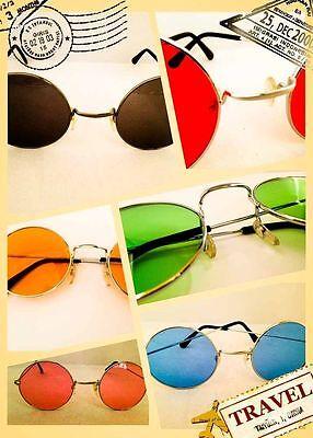 Hippie Brille Sonnenbrille Flower Power John Lennon Herren Damen 60er 70er Peace