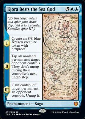 Theros Beyond Death - KIORA BESTS THE SEA GOD mythic rare Magic Gathering