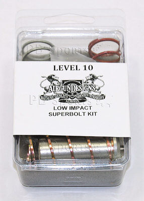 Airgun Designs AGD Level 10 Super Bolt Kit LvL Automag Minimag Paintball NEW