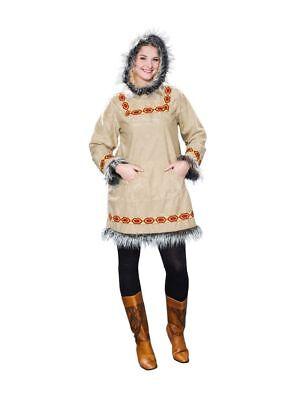 Eskimo Damen Kostüm (FM - Damen Kostüm Eskimo Inuit Karneval Fasching)