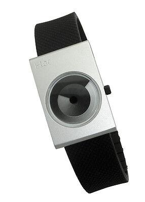 (I-toc SILVER Watch: modern handless gradient design unique unisex EleeNo issey )