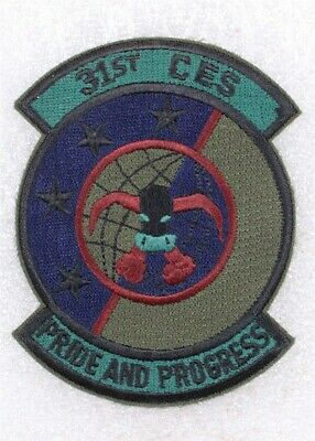 USAF Air Force Patch: 31st Civil Engineering Squadron - subdued
