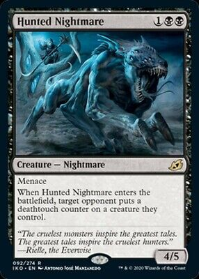 ***4x Hunted Nightmare*** MTG Ikoria: Lair of Behemoths IKO MINT Kid Icarus